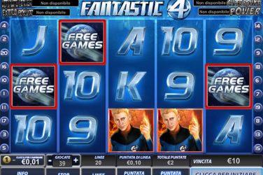 Slot Fantastic Four 50 linee