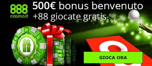 Bonus di benvenuto 888 casino