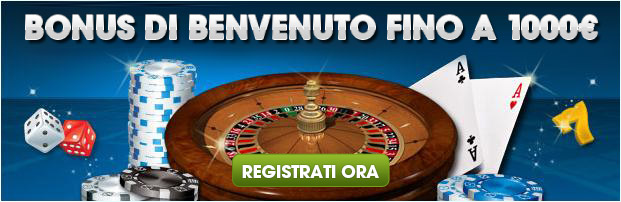 bonus benvenuto 1.000€ William Hill