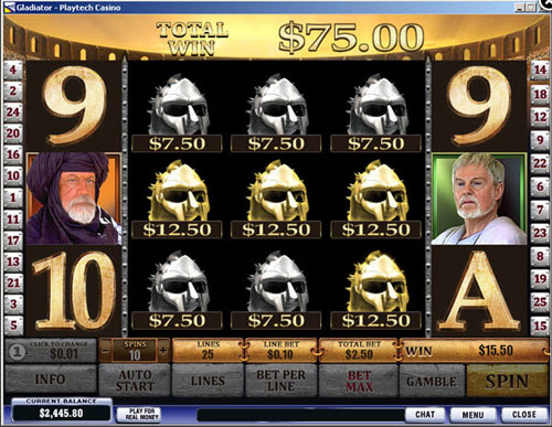 Gladiator jackpot slot machine