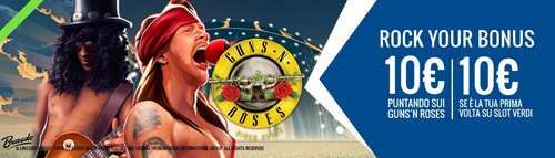 Guns'n'Roses slot Rock your bonus snai