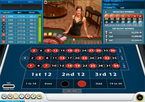 Roulette live william hill