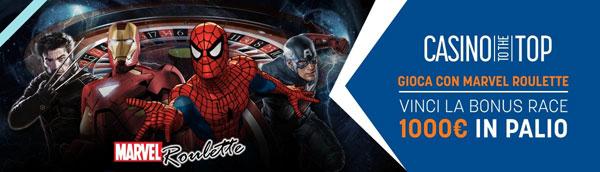 Snai bonus race da 1.000 euro con Roulette Marvel