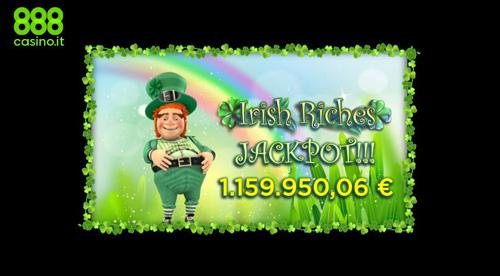 Vinto un milione di euro con Irish Riches