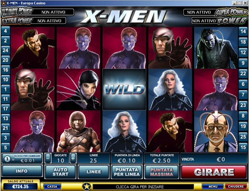 x-men slot machine marvel