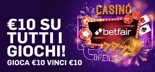 betfair bonus casino