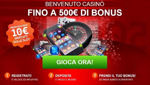 gioco digitale bonus benvenuto