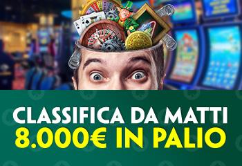 Classifica da matti su Paddypower casino