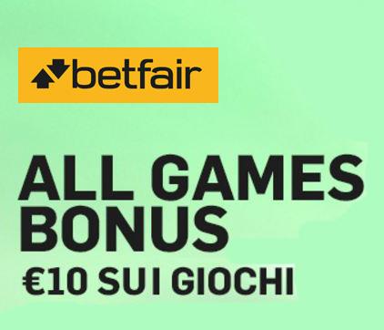 all games bonus betfair