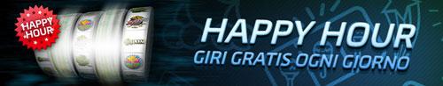 GD happy hour giri gratis