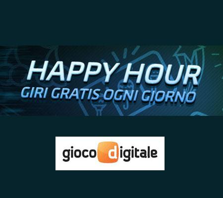happy hour gioco digitale giri gratis