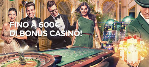 Bonus benvenuto Mr.Green Casino