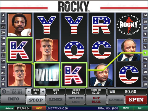 Rocky Slot machine Playtech