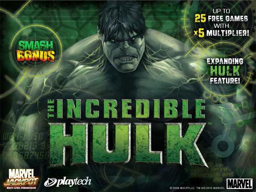 incredible hulk slot gratis