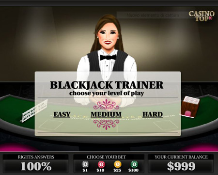 black jack strategy trainer tool