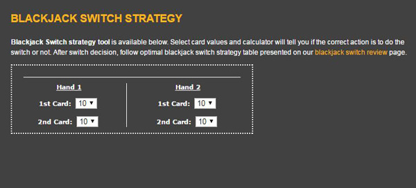 black jack switch strategy tool