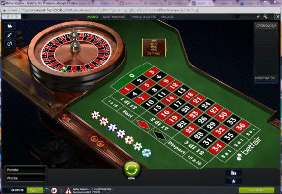 betfair roulette pro premium recensione