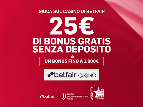 bonus betfair casino 25 euro + 1000 euro